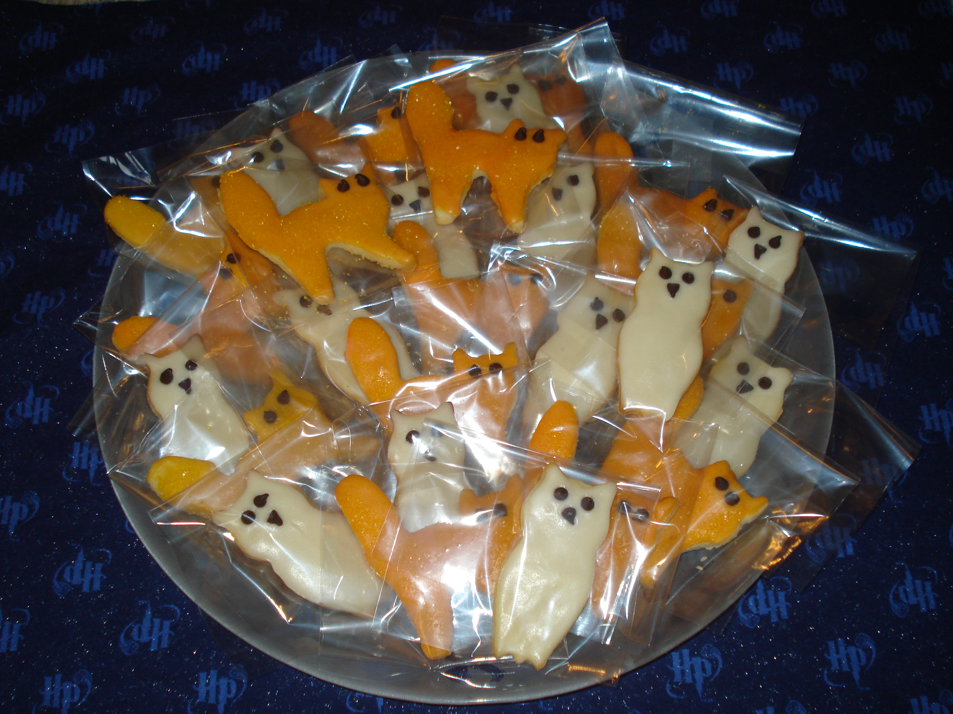 Cats and Owls cookies