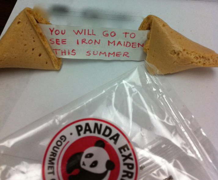 Iron Maiden Fortune Cookie