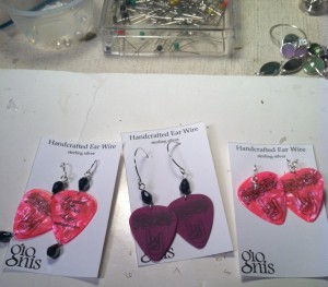 Louder Than Love earrings by Gionis Design