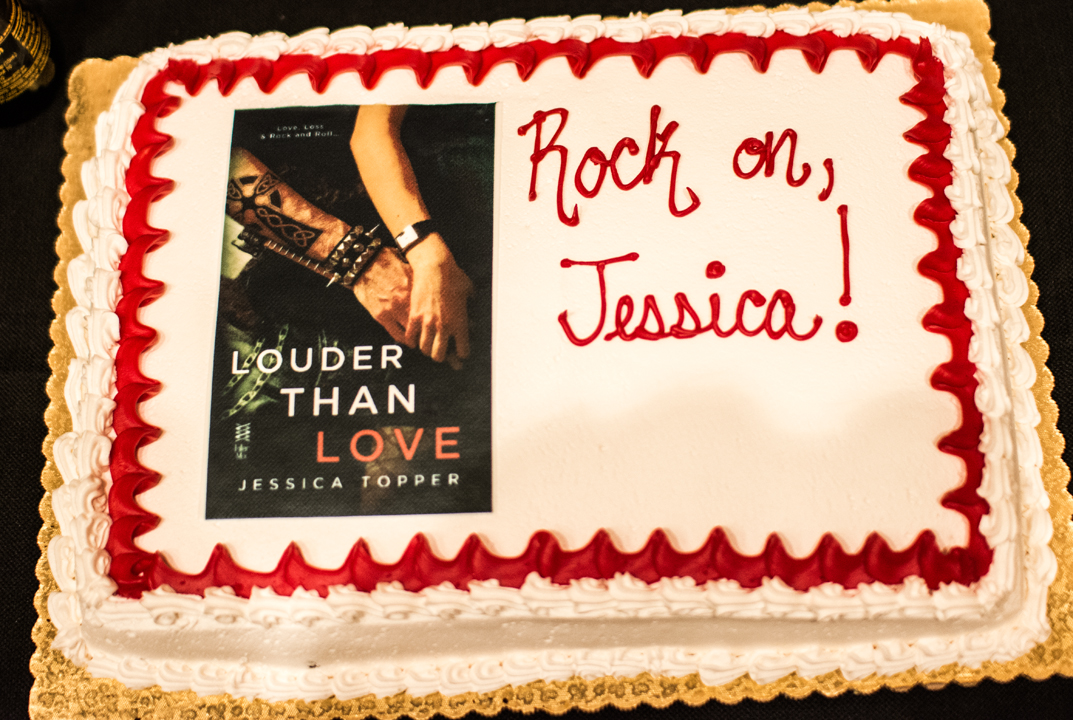 Louder Than Love book release party - cake